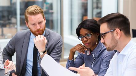 Three workers in meeting | Elsevier