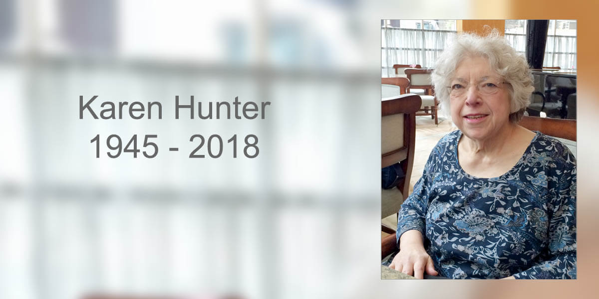 Karen Hunter, 1945-2018