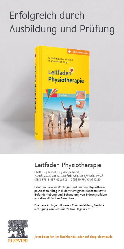 Flyer Physiotherapieausbildung 2019