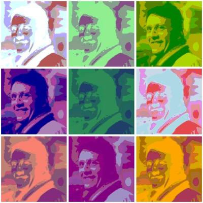 Antonio created his own version of Andy Warhol's <em>Marilyn</em> for his Twitter profile.