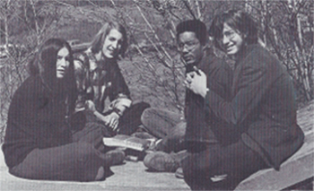 One of my first editorial meetings for the Walnut Hills High School (Cincinnati, Ohio) literary magazine <em>Gleam</em> (I&rsquo;m the fellow on the far right).