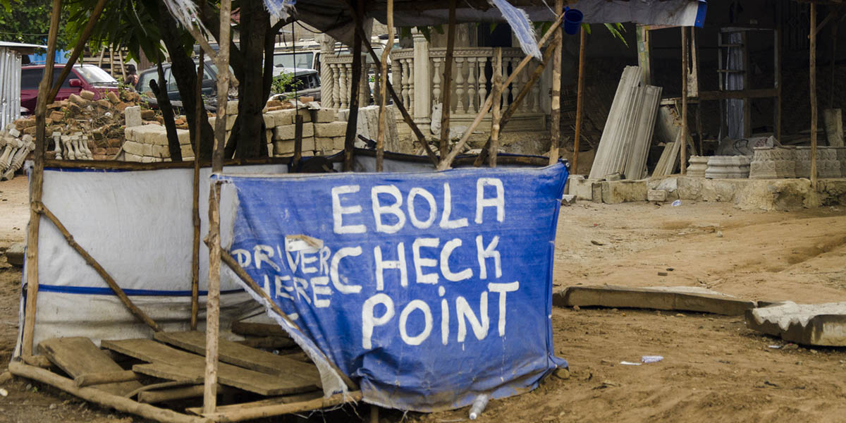 A makeshift Ebola checkpoint in Port Loko, Sierra Leone. (Photo © istock.com/harry1978)