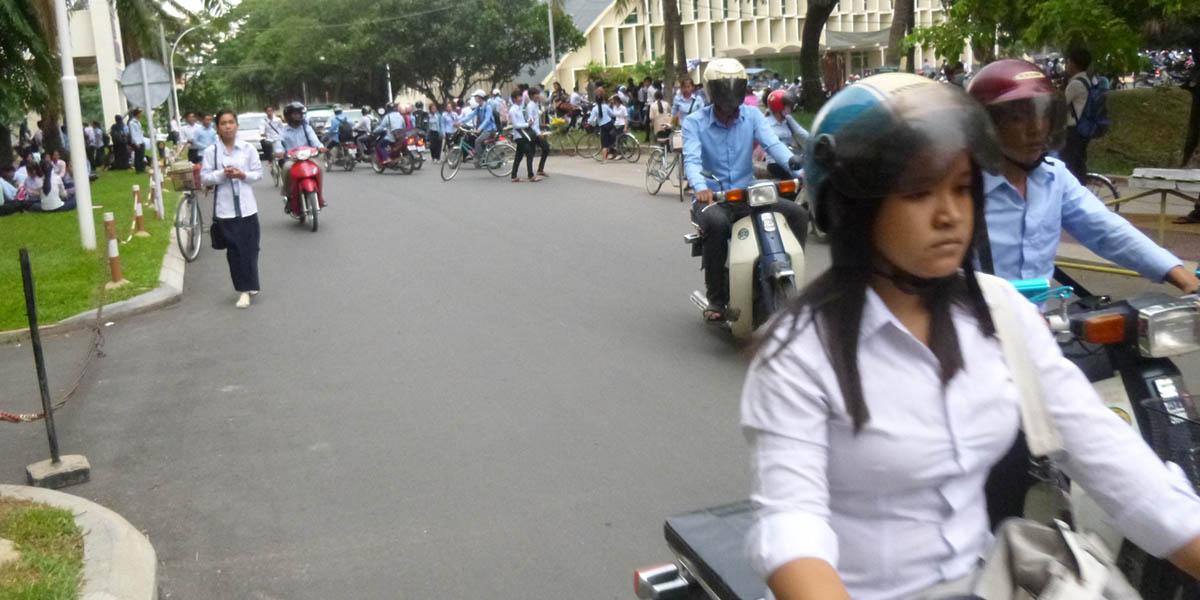 Cambodia women college students