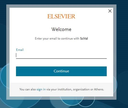 SciVal rejestracja
