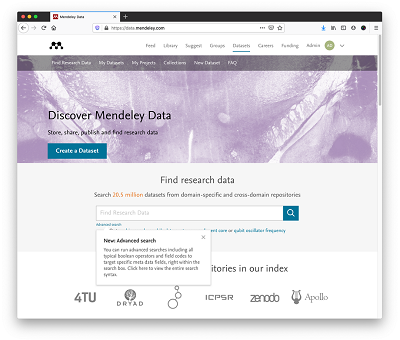 New advanced search - Mendeley | Elsevier