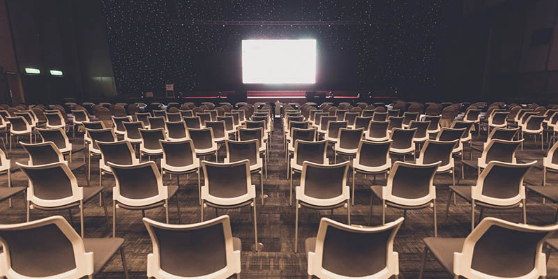 Conference venues remain empty across much of the world.