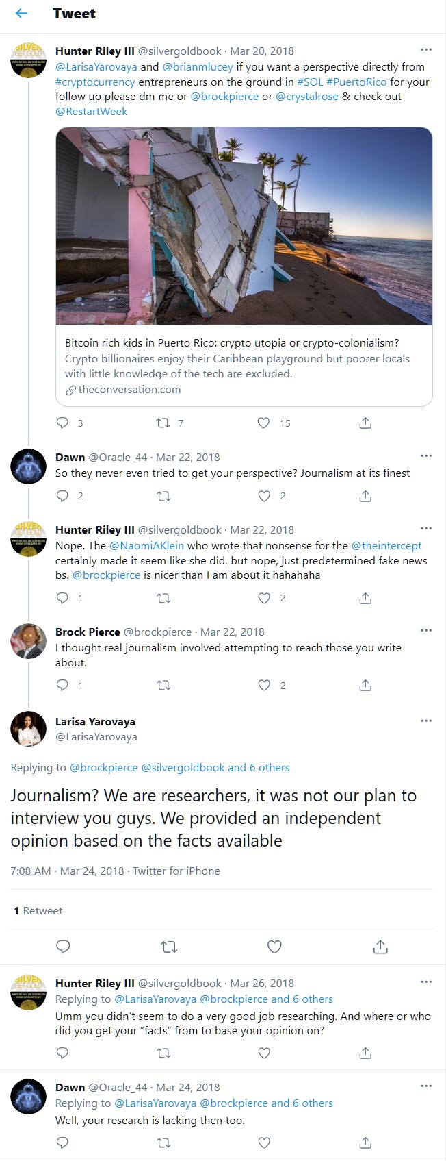 Dr Larisa Yarovaya responds to challenging comments on Twitter.