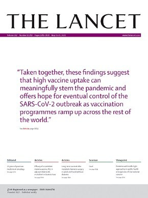 The Lancet journal cover