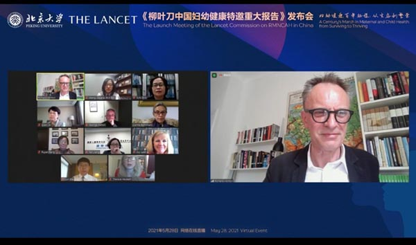 <em>The Lancet</em> Editor-in-Chief Dr Richard Horton hosts a panel at the launch event.