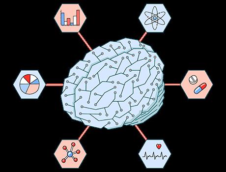Brain nodes illustration