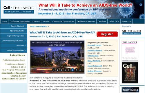 Cell Lancet AIDS conference
