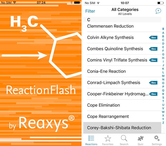 ReactionFlash was created to help students learn the named reactions. Its development was a collaboration between the owner, RELX Intellectual Properties SA, and top PhD students and researchers.