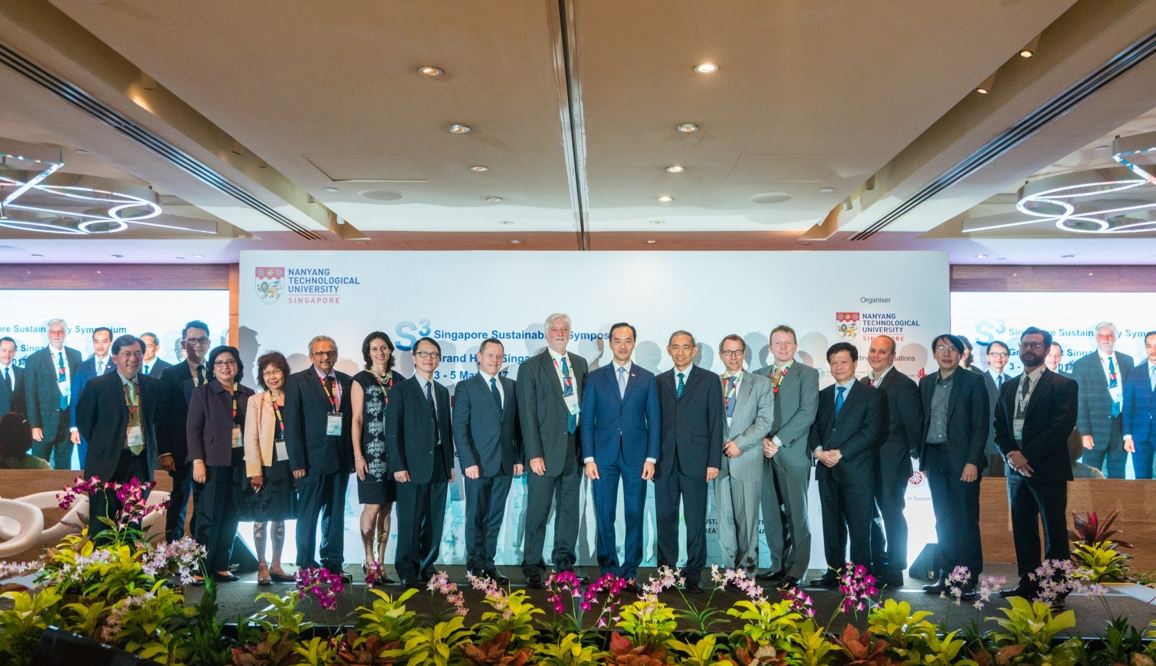 Speakers and Scientific Advisory Board Members of the Singapore Sustainability Symposium (S3): John Keung Kam Yin (Singapore's Building and Construction Authority), Chang Chew Hung (NIE), Mely Caballero-Anthony (NTU), Koh Kheng Lian (NUS), Kamlesh Yagnik (Surat), Lauren Sorkin (Rockefeller 100 Resilient Cities), Stanley Yip (Peking University), Simon Upton (New Zealand Commissioner for the Environment), Alexander J.B. Zehnder (NTU), Koh Poh Koon (Senior Minister of State for National Development and Trade & Industry), Choi Shing Kwok (Permanent Secretary of Ministry of the Environment and Water Resources), Anders Karlsson (Elsevier), Per-Christer Lund (Innovation Norway), Lam Khin Yong (NTU), Gustav Guggenheimer (Hans Andersson Recycling), Victor Tay (NTU) and William Henry Clune (NTU).