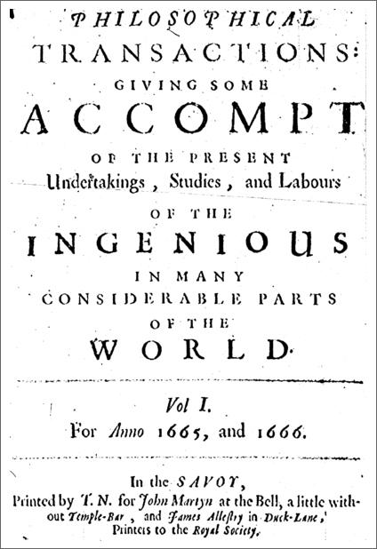 Philosophical Transactions, Vol. 1 (1665)