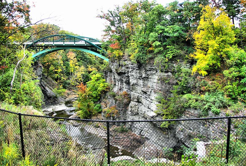View of the gorges, Cornell University, Ithaca, New York (Photo by Eric Holmes)