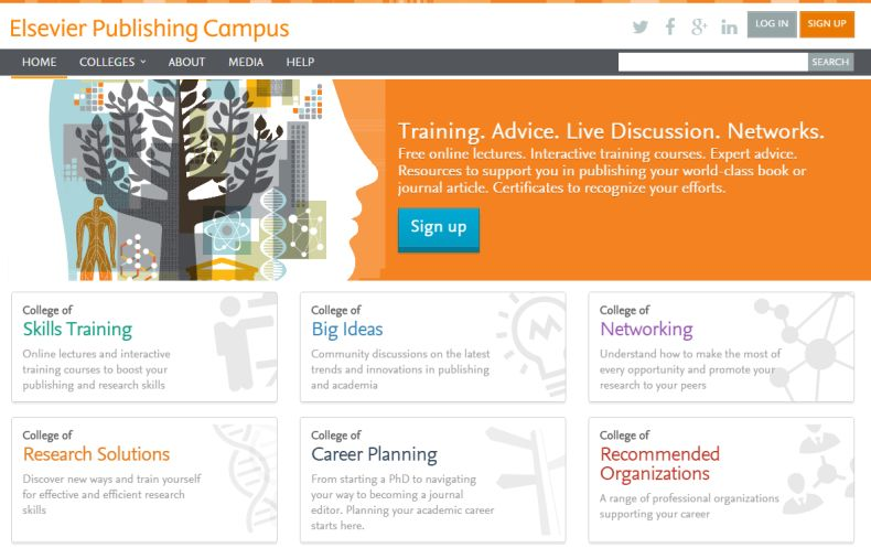 The Publishing Campus homepage.