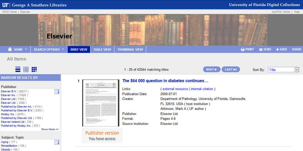 Using the ScienceDirect API to increase visibility and access to research articles