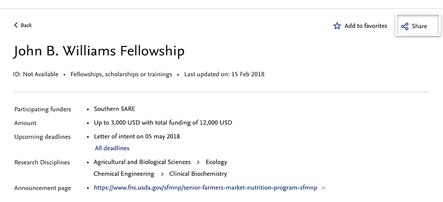 Whom to share the funding opportunities - Releases | Elsevier