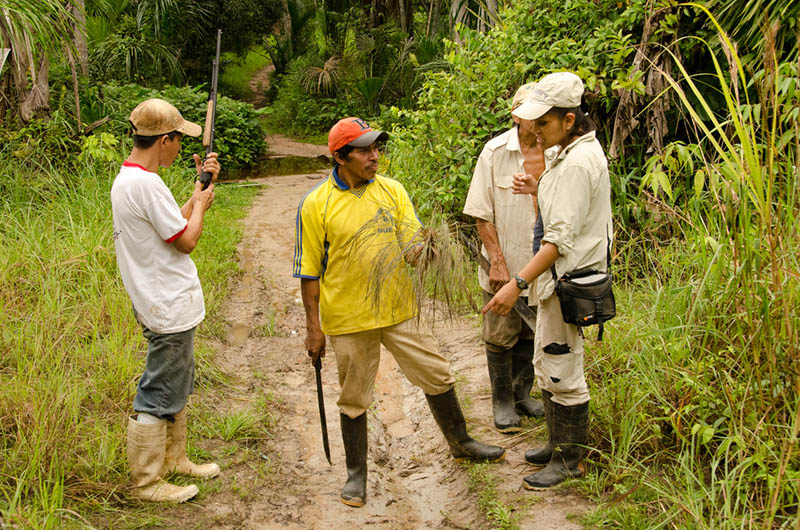Dr. Narel Paniagua-Zambrana doing fieldwork with indigenous communities in Northern Bolivia (Photo by Rainer Bussmann)