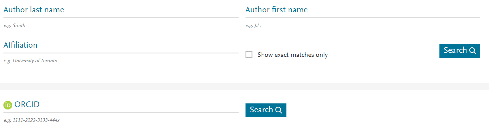 Free author lookup, researchers can search for any author in Scopus