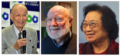 Satoshi Omura, PhD; William C. Campbell, PhD; Youyou Tu, PhD (Source: ANP/Reuters)