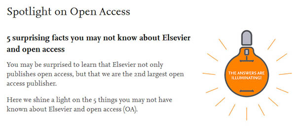 Check out Elsevier's new OA page and infographic.