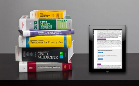 <strong>P <em>and</em> E.</strong> All Elsevier's Global Clinical Reference titles are now published concurrently in print and as an e-book version.