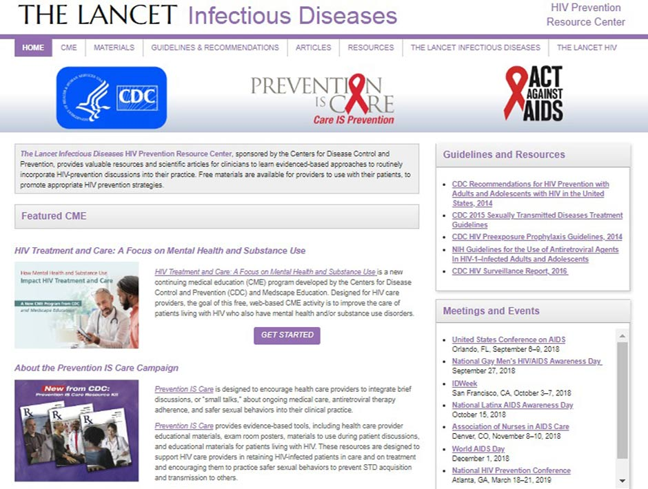The Lancet presenta un nuevo centro de recursos para la prevención del VIH gratuito para médicos