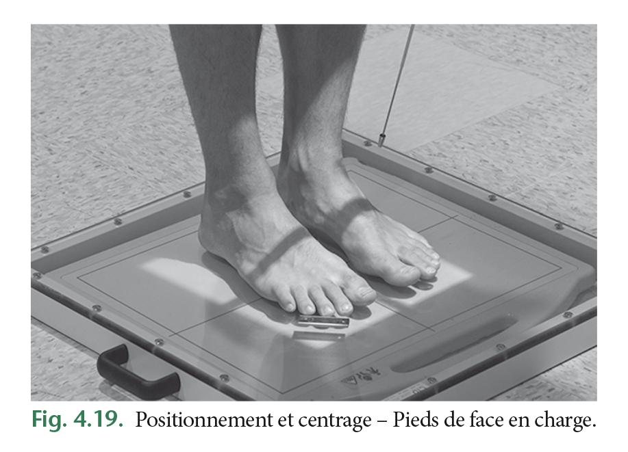 Fig. 4.19. Positionnement et centrage – Pieds de face en charge.