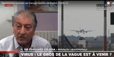 Transferts par avion de patients Covid-19 d'une région à une autre