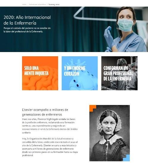 Página resumen Nursing 2020