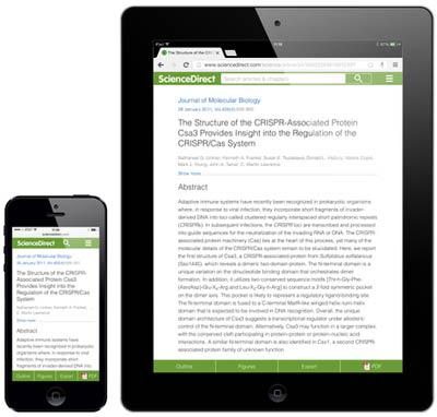 We used responsive design techniques to make the design scale fluidly and maximize readability on all screen sizes. Researchers and librarians have told us they found the article design appealing and the typesetting clear and easy to read due to the font and its generous size.