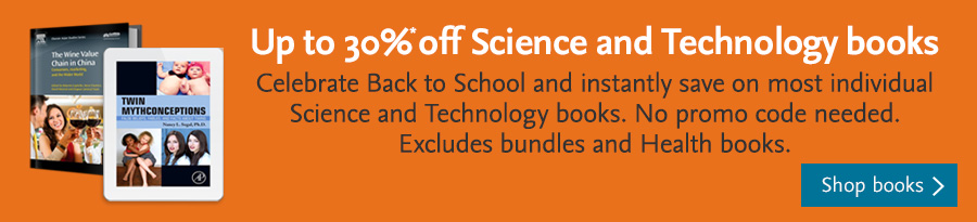 Up to 30% off Science and Technology books