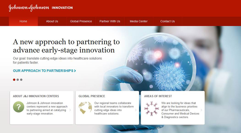 J&J Innovation Centers website