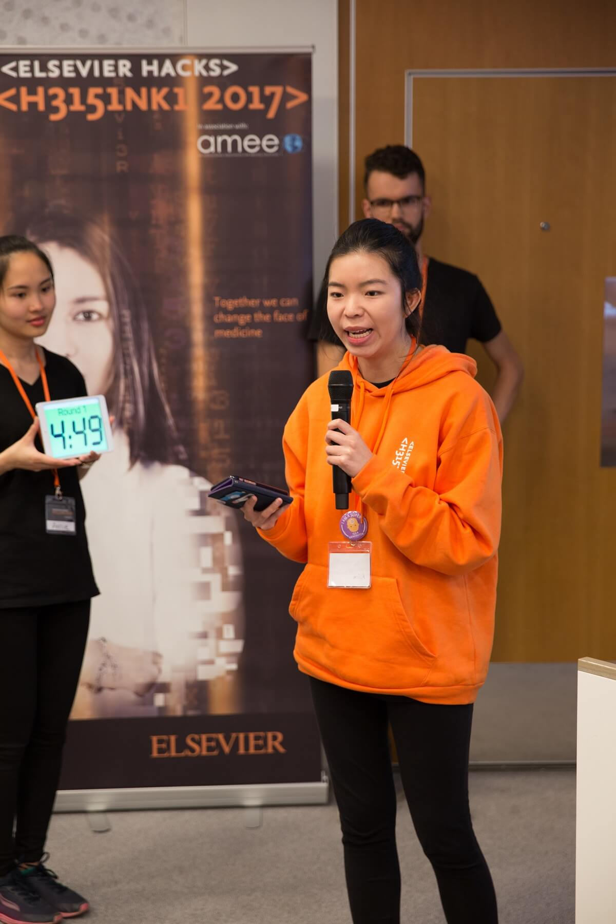 Alice Leung presenting