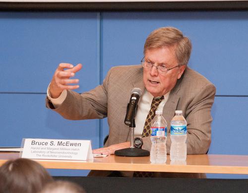 Bruce McEwen, PhD (Photo by Nathalie Schueller)