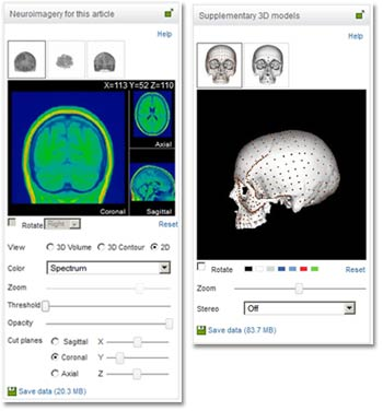 Bringing 3D visualization to online research articles