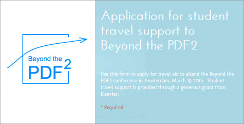 Travel grant application for Beyond the PDF 2