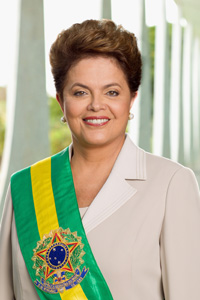 Dilma Rousseff, Brazil's first woman president. (Photo by Roberto Stuckert)