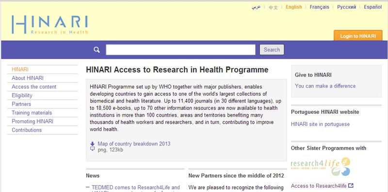 HINARI website