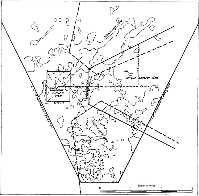 "<strong>The Country reduced to map form</strong> (Source: GH Matthes, ""Oblique aerial surveying in Canada,"" <em>Geographical Review</em> 16, 1926, p. 579)"