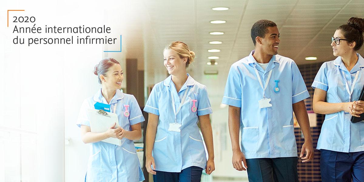 2020 : le monde rend hommage au personnel infirmier