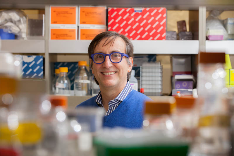 Prof. Alessandro Sette, DSc, in his lab. (Photo courtesy of the La Jolla Institute for Immunology)