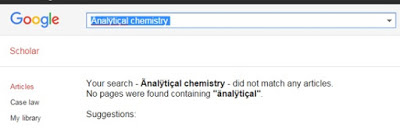 Google search for 'analytical chemistry