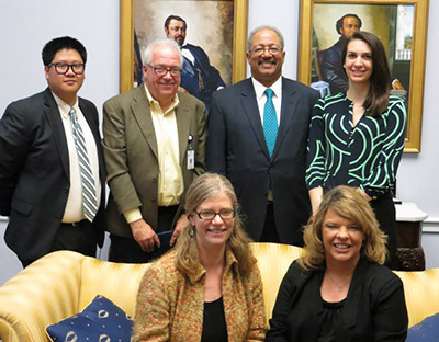 American Society for Clinical Laboratory Science members with US Rep. Chaka Fattah (third on back row) during the ASCLS Legislative Symposium.