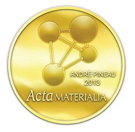 Acta Materialia gold-plated medallion