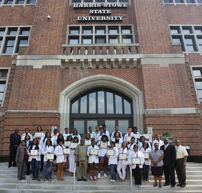 The 2013 Science and Mathematics Academy at Harris-Stowe State University in St. Louis. The academy is a residential five-week college preparatory program held each summer for incoming freshmen (Photo by Walter McElroy Jr.)