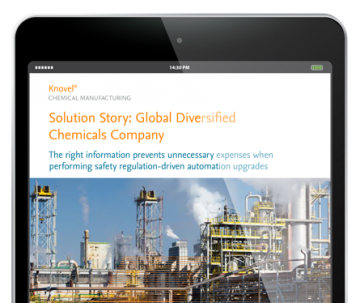 Global diversified chemicals company updates automation systems - Solution story, Chemicals, Knovel | Elsevier Solutions