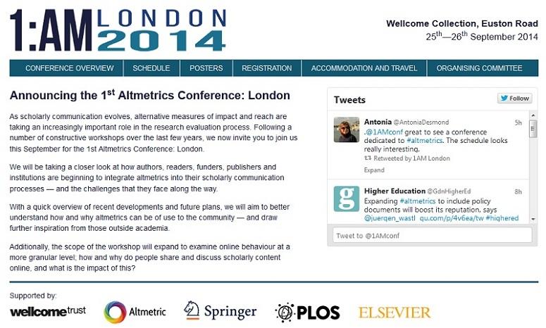 1st Altmetrics Conference: London