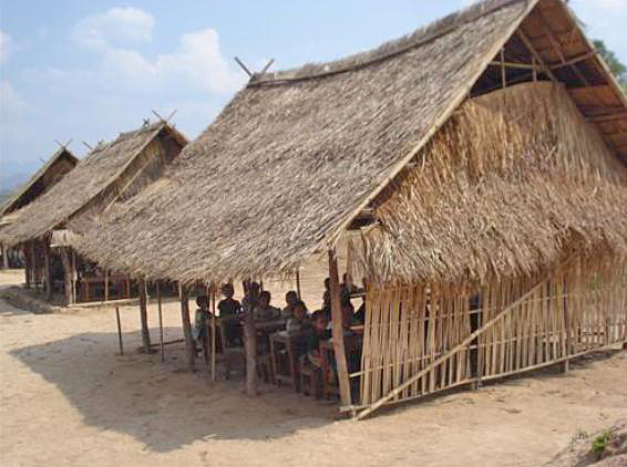 Previously the school was in grass-roof huts.